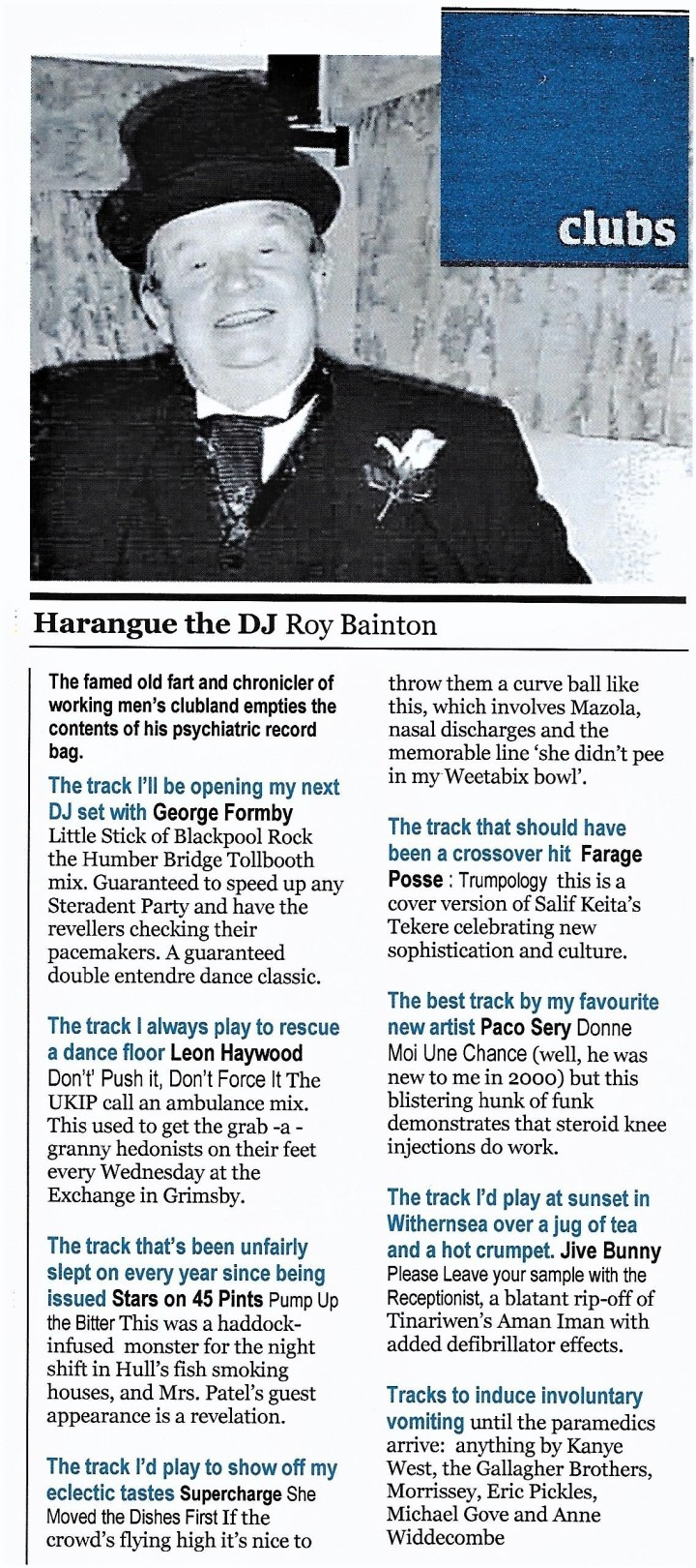 Harangue the DJ